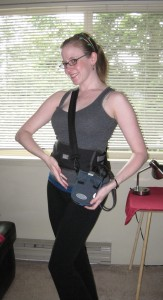 Cheryl models the 2011 line of Fantastic Voyage-style medical imaging hardware.