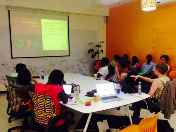 My first day of class in progress at the iHub