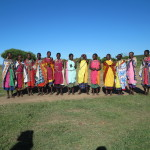 Women of the Maasai village
