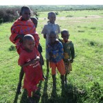 Boys of the Maasai village