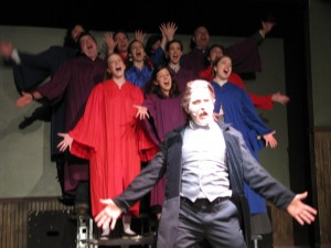 Singing in Nietzsche! The Musical, bearing weight on both my legs like a champ.