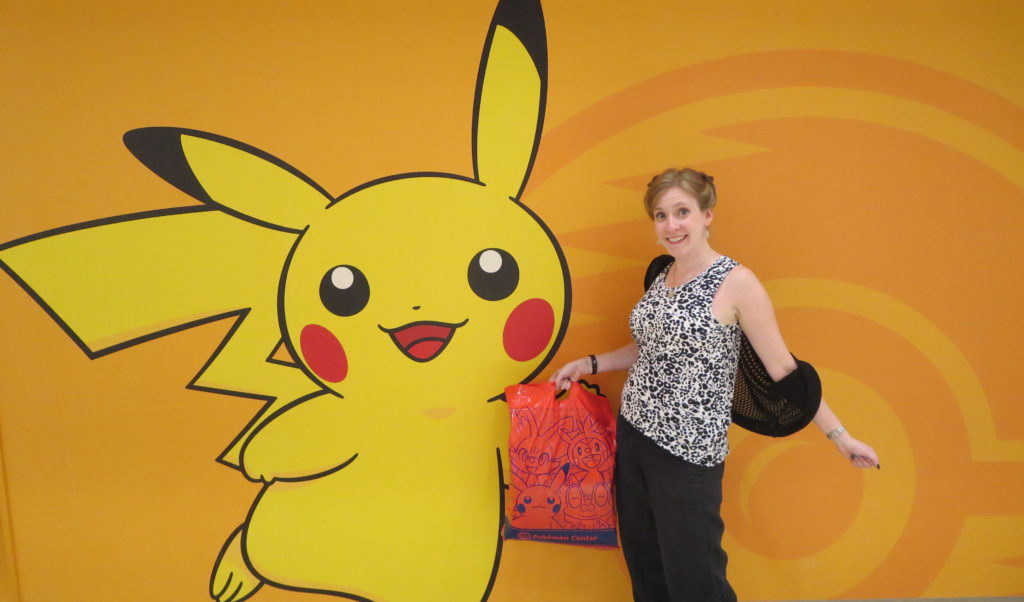 Visiting Pokemon Trainer home base, at the Tokyo Pokemon Center last year.